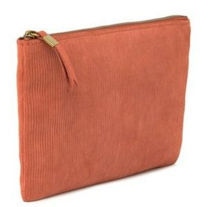 Madewell Pouch Suede Corduroy Clutch